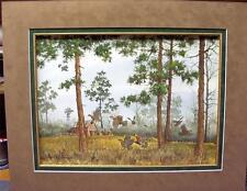 David Hagerbaumer   Original Water Color  Painting  Matted  Bobwhite Quail  Mint