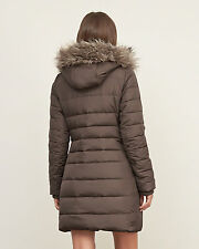 "Womens Abercrombie & Fitch Quilted Fleece Hoodie Coat Jacket Size M 36""-37"" £230"