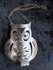 HANGING TEA LIGHT HOLDER BRONZE OWL