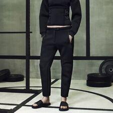 Alexander Wang HM Rare Black Neoprene Scuba Cropped Trousers Pants S 36 US 6