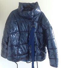 ZARA Basic Blue Padded Coat. Size L.