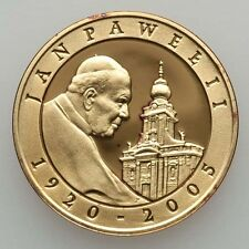 """POLAND  2005  10 ZLOTYCH  """"POPE JOHN PAUL II """"  GEM PROOF SILVER COIN"""