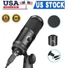 USB Microphone Mic Kit Condenser Recording Studio Tripod Stand For PC Phone Set