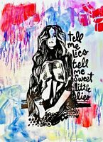 Painting Tell Me Lies Fleetwood Mac Music Band A0 A1 A2 A3 A4 Photo Poster