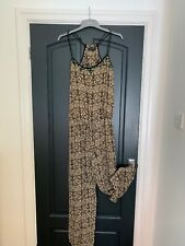 Worn Once - RIVER ISLAND Straight Leg Jumpsuit - Boho / Festival - Size 12
