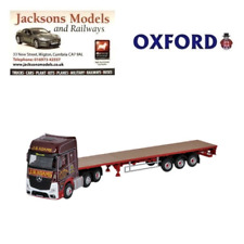 Oxford 76MB003 Mercedes Actros GSC Flatbed Trailer J R Adams 1:76 Scale