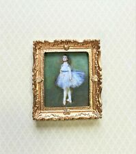 Dollhouse Miniature Painting Ballerina by Degas Printed on Canvas 1:12 Scale