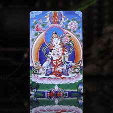 Tibet Tibetan Buddhism  Exquisite painting Amulet thangka White Tara