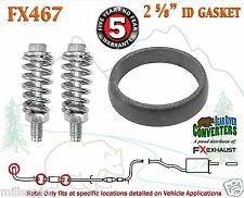 "FX467 2 5/8"" ID Exhaust Donut Gasket & Spring Bolts Stud Nut Hardware Kit"