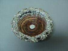 19th C. GEORGIAN Old Sheffield Plate (OSP) Fused Silver Wine Bottle Coaster