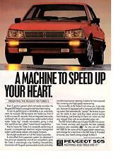1987 PEUGEOT 505 TURBO S  ~  CLASSIC ORIGINAL PRINT AD
