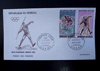 SENEGAL AERIEN 68/69  PREMIER JOUR     J-O MEXICO,COURSE, JAVELOT   20+30F  1968