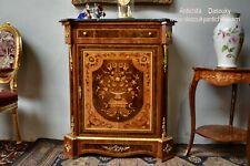 Servante intarsiata con cassetto e sportello stile Napoleone III