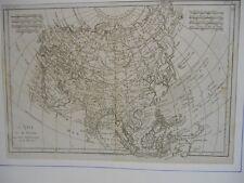 Carte de l ' Asie par Bonne vers 1780 -