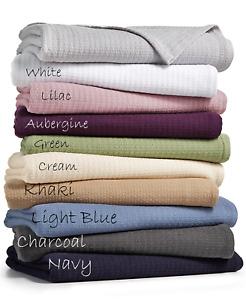 RALPH LAUREN Home Bronze Comfort TWIN Cotton Blanket Green Basket Wave $90 NW