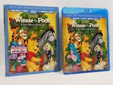 Disney Winnie the Pooh A Very Merry Pooh Year 2-Disc Blu-ray+DVD 2013 +Slipcover
