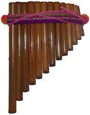 Beautiful Artisan Made Peruvian 13 Pipes Pan Flute