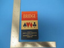 Vintage Bridge Card Game Scoring Tables By Liggett & Myers Tobacco Co. S1475