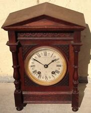 ANTIQUE 1872 WALES McCULLOCH CHEAPSIDE LONDON LENZKIRCH MOV'T MANTLE CLOCK