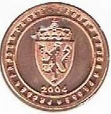 Noorwegen 2004 (A) probe-pattern-essai - 1 eurocent - Wapenschild