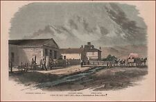 Saloon, Council House, SALT LAKE CITY, UTAH, hand colored engraving, print 1858
