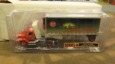 DCP #31323 SUN SPUN DAIRY FOODS SEMI CAB TRUCK REEFER PUP VAN TRAILER 1:64/ FC