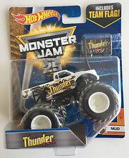 Thunder 4X4 Hot Wheels 1:64 Monster Jam Truck with team flag Sealed New