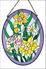 """Suncatcher Flower Fairy Design 9"""" oval"""