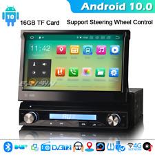 CarPlay Android 10.0 1 Din Detachable Car DVD Player GPS SatNav DAB+ 4G WiFi OBD