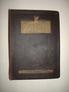 THE AMERICAN RIFLEMAN MAGAZINE LEATHER BINDER WITH COMPLETE 1966 SET