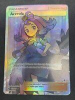 Pokemon TCG Acerola 142/147 Full Art Ultra Rare NM Supporter Burning Shadows