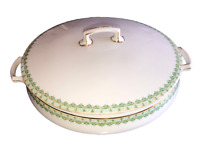 Antique MZ Austria Habsburg China Covered Round Casserole Tureen Early 1900's