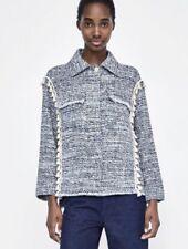 Zara Blazer Coats, Jackets & Waistcoats Tweed Outer Shell for Women