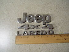 Jeep Laredo 4 x 4 tail gate hatch chrome letters and numbers badge emblem
