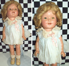 """13"""" Antique Shirley Temple Composition Doll All Original Clothes Mohair Wig Fab~"""