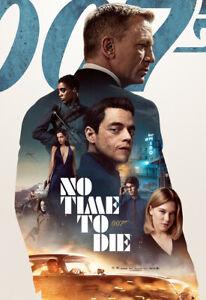 Stampa Poster 007 NO TIME TO DIE Locandina CINEMA pat. op. 250gr 33X48 cm