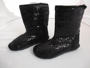 Gorgeous NEW NEXT Black SEQUIN Snugg Boots Sz 11 BNWT  GIFT   PARTY