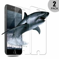 iPhone 8 Plus abdeckende 2x Panzerglas Folie 9H Displayfolie Transparent