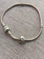 Pandora Sterling Silver Bracelet w Shell Starfish Charm Bead 925 +14k Gold Disc