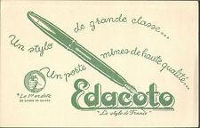 EDACOTO LE STYLO DE FRANCE BUVARD BLOTTING PAPER