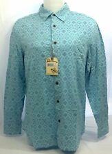New Margaritaville Men's Long Sleeved Button Down Maui Blue Large Shirt