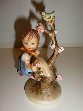 Hummel Figurine #141, Apple Tree Girl, Girl on Branch with Apple Blossoms/Bird