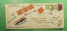 DR WHO 1942 LYNN MA SPECIAL DELIVERY AIRMAIL PREXIE TO TN POSTAGE DUE  g18224
