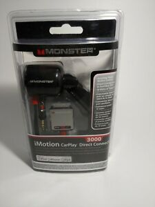 Monster i Motion Car Play Direct Cable Connect 3000 iPod, iPhone iPad Black