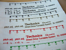 2 x Technics decal sticker SL1200/1210 Printed BLACK-WHITE-RED-GREEN-SILVER-GOLD