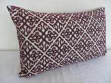 Classic Scrolls Burgundy Rectangular Oblong Cushion Cover 30x50cm