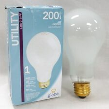 12 Pack Frosted Incandescent 200W Utility Light Bulbs