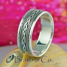 Band Sterling Silver Rings for Men