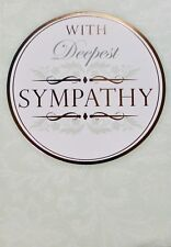 With deepest sympathy greetings card, flowers, suitable for anyone, brand new