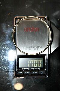 Jonc en Or 18 Carats ( Bracelet gourmette anneau Bague Gold 18K  )